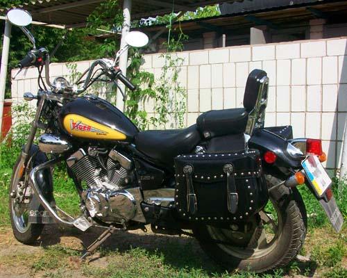 мой мотоцикл с кофрами, фото