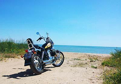 мотоцикл и море