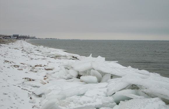 фото лёд на Азовском море
