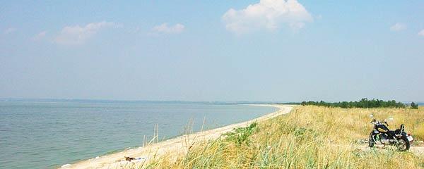 лиман в Седово - дикий пляж