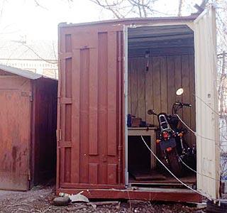 фото гараж для мотоцикла